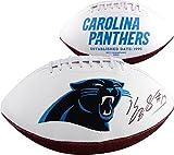Kelvin Benjamin Carolina Panthers Autographed White Panel Football - Fanatics Authentic Certified - Autographed Footballs