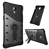 Oneplus 3T hybrid Case,DAYJOY Unique Design Dual Layer Armor Shield Protective Shockproof with 360 degree adjustment Kickstand Case Cover For OnePlus 3 3T(BLACK)