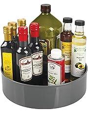 mDesign - Draaiplateau - carrousel/kruidenrek - ideale opberger in de keuken voor spijsolie, ingrediënten, kruiden, specerijen, flesjes en potjes