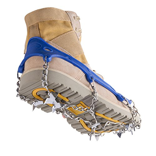 OuterStar Traction Cleats Ice Snow Grips Anti Slip 12 Stainless Steel Spikes Crampons Footwear M/L