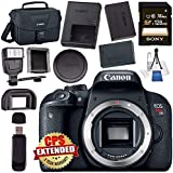 Canon EOS Rebel T7i DSLR Camera (Body Only) 1894C001 + Sony 128GB SDXC Card + LPE-17 Lithium Ion Battery + Flash + Canon 100ES EOS shoulder bag + Card Reader + Memory Card WalletBundle