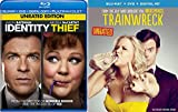 Identity Thief & Trainwreck Double Feature Blu Ray Fun Comedy movie Set Combo Double Edition