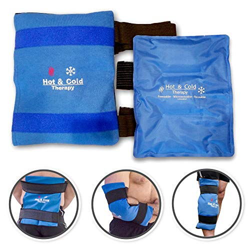 Ice Packs for Injuries Reusable - High Quality Flexible Gel Ice Pack | Shoulder Ice Pack and Heating Pad | Knee Ice Pack Wrap | Cold Packs for Injuries| Relief for Hip, Elbow, Back Pain. Large: 11x14