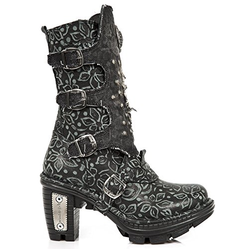 M Rock S1 New Neotrial Women's Leather Boots Black Black NEOTR045 FCxBdwqY