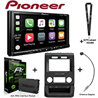 Pioneer MVH-1400NEX 6.2 Digital Media Receiver iDatalink KIT-FTR1 Factory System Adapter for select Ford pickups, ADS-MRR Interface Module and BAA22 Antenna Adapter and a SOTS Lanyard