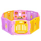 Cheap Costzon Baby Playpen Kids Safety Activity Center Play Zone (Pink, 8 Panel)