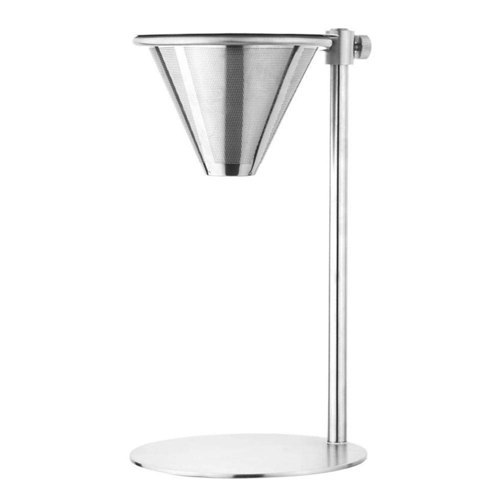 Paper Strainer Stainless Steel Coffee Filter Set - Adjustable Ring Height Double Layer Filter Without Filter Paper Easy To Clean And by Aquat