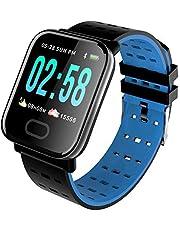 KawKaw Smartwatch Generation X Für Damen, Herren & Kinder Mit Fitness Tracker, Schrittzähler, Pulsuhr, Wasserdicht, Blutdruckmessung Für iOS Android & Whatsapp
