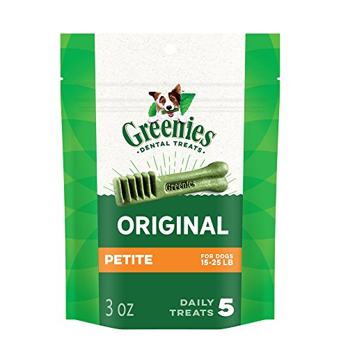 GREENIES Original Petite Dog Dental Chews, 3 oz., 5-count