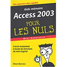 Access 2003 mini reference