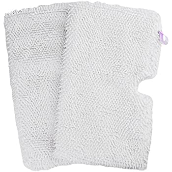 Flammi 2-pack Washable Microfiber Mop Pads Cleaning Pads Replacement for Shark Steam Pocket Mops S3500 series, S3501, S3601, S3550, S3901, S3801, SE450, White