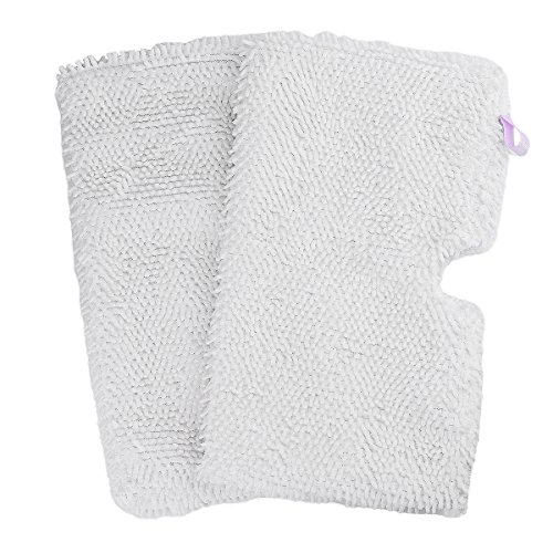 Flammi 2 Pack Washable Microfiber Mop Pads Cleaning Pads Replacement for Shark Steam Pocket Mops S3500 series S3501 S3601 S3550 S3901 S3801 SE450 (White) (Shark S3501 Replacement Head)