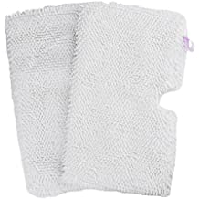 Flammi 2 Pack Washable Microfiber Mop Pads Cleaning Pads Replacement for Shark Steam Pocket Mops S3500 series S3501 S3601 S3550 S3901 S3801 SE450 (White)