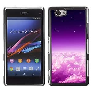Violeta rayos de sol - Metal de aluminio y de plástico duro Caja del teléfono - Negro - Sony Xperia Z3 Compact / Z3 Mini (Not Z3)