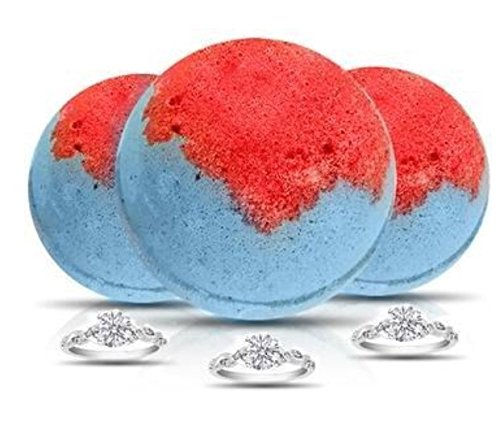 XL Bath Bomb~ 10 oz. SIZE 5-9/15-19 UK by Soapie Shoppe (CHAMPAGNE POMEGRANATE TRIO)