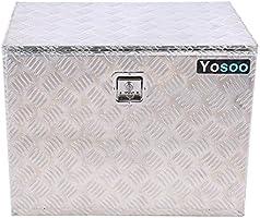 Caja de herramientas para camión de aluminio, caja de seguridad para furgonetas, camiones y lugar de trabajo - 60 x 46,5 x 37,5 cm: Amazon.es: Bricolaje y herramientas