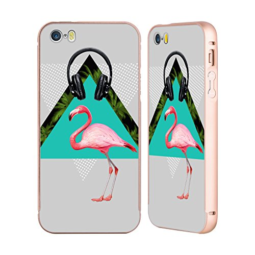 Officiel Mark Ashkenazi Musique Flamant Or Étui Coque Aluminium Bumper Slider pour Apple iPhone 5 / 5s / SE
