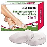 Bunion Corrector Splint Big Toe - Orthopedic Corrector Brace Pads & Metatarsal Pads - Elastic Bunion Corrector for Women and Men - Non Surgical Hallux Valgus Correction Relief