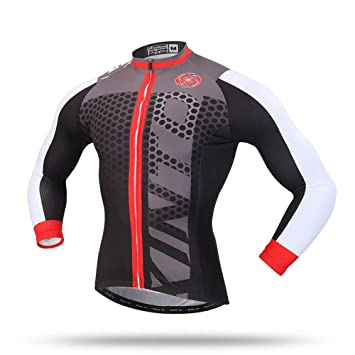 68b16b622 Pinjeer Men s Breathable Spring Autumn Long Sleeve Cycling Jersey MTB Bike  Bicycle Shirt Clothing Quick Dry