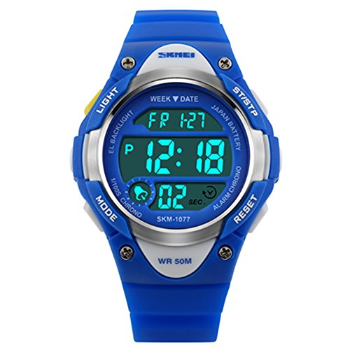 Boys Digital Watches Waterproof Sports Multi-Functional Wristwatch with Alarm and LED Light Kids Watches for Children