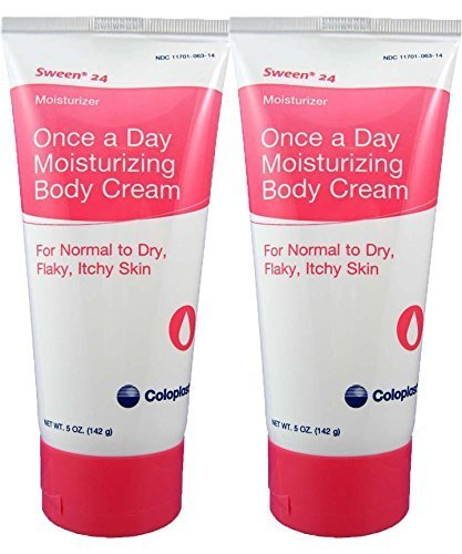 Coloplast Sween 24 Once a Day Moisturizing Body Cream For Normal, Dry, Flaky and Itchy Skin (2) 5oz (Lanolin Moisturizing Body Lotion)
