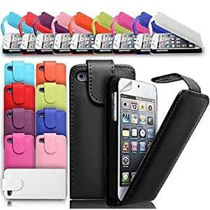 SJT Up Fold PU Leather Case for iPhone 4/4S (Assorted Colors) , Black