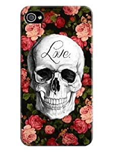 Accurate Store iphone 4/4s Beautiful Skull Arts Case Cover LarryToliver #4