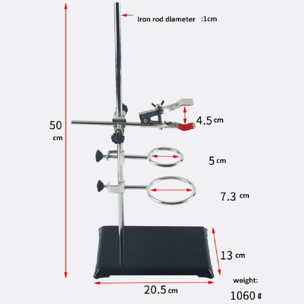 Retort Stand 3 Support Ring set 3 4 5 Rings Premium Lab Metalware Equipment