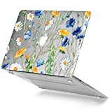GMYLE Plastic Pattern Hard Case for MacBook Air 13 Inch (Model: A1369 and A1466), Clear Crystal Floral Pattern