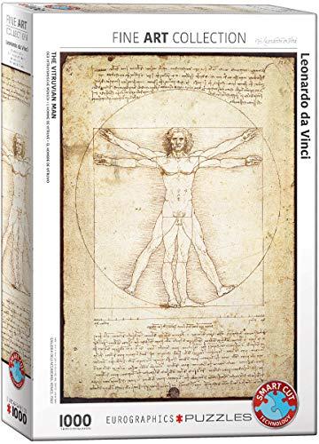 EuroGraphics Vitruvian Man by Leonard Da Vinci 1000 Piece Puzzle