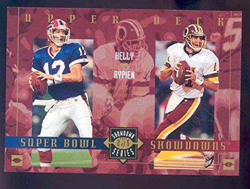 2003 Upper Deck Super Bowl Showdowns Lite/Tombstone #2 Jim Kelly Mark Rypien Over Sized Card