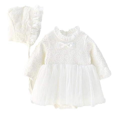 El vestido del algodón de los bebés de la manga del cordón de la ...