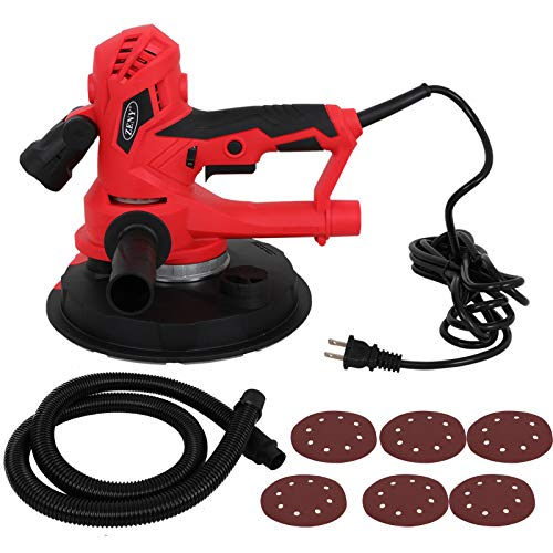 ZENY Electric Handheld Drywall Disc Sander 750W Adjustable Variable Speeds Vacuum Sander w/Sanding Pads & LED Light by ZENY