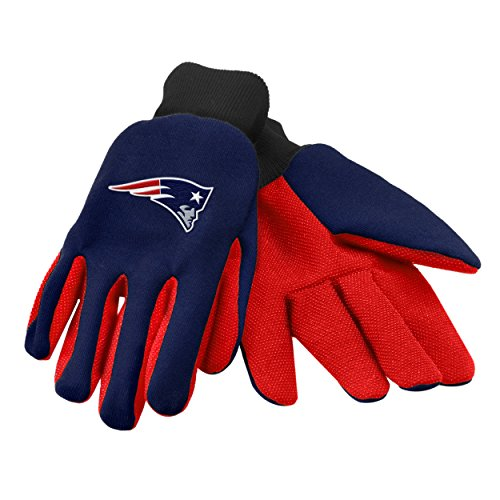 Forever Collectibles 74211 NFL New England Patriots Colored Palm Glove