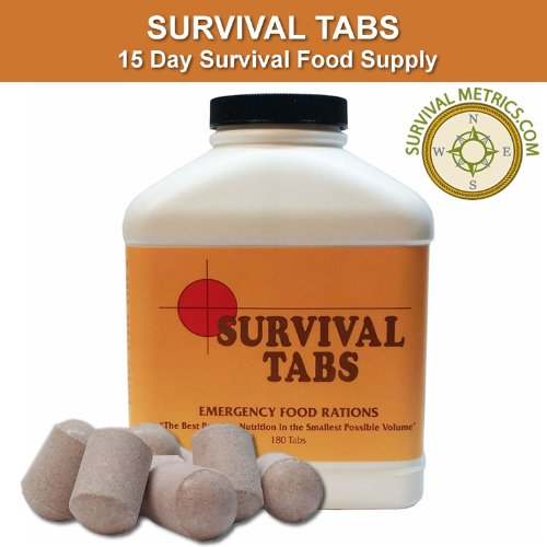 (Survival Tabs - 15 Day Survival Food Supply - 10+ Year Shelf Life )