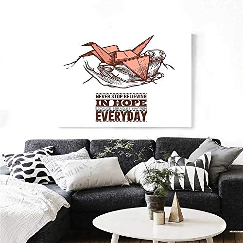 Warm Family Hope The Picture for Home Decoration Hands Holding an Origami Crane with a Miracles Happen Everyday Quote Customizable Wall Stickers 36
