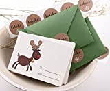 Mini Christmas Cards Set, Season Greetings Christmas Card Pack, Holiday cards Set Santa Greetings Cards Set with Envelopes - 12CT