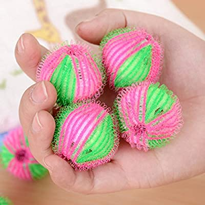 Hair-Removal Laundry Balls - 6 Pieces/Pack Magic Hair Removal Laundry Ball Clothes Personal Care Hair Ball Washing Machine Ball Cleaning Ball