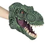 Realistic Dinosaur Puppet Kids Soft Touch Rubber Hand Puppets Role Play Game Dinosaur Toy for Both Children and Adults (Tarbosaurus)
