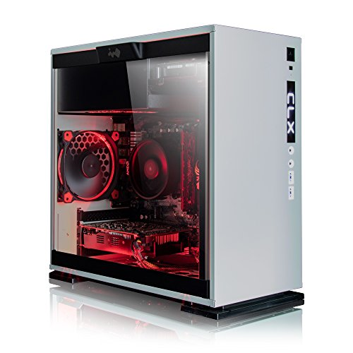 CybertronPC TGASETGXE7600WR CLX Set Gaming PC - AMD Ryzen 5 1500X 3.50GHz 4-Core, 8GB DDR4, NVIDIA GTX 1060 3GB Video, 120GB SSD + 1TB HDD, Win 10 Home 64-bit, White