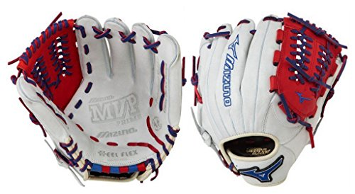 Mizuno GMVP1177PSE3 Prime SE Baseball Glove, Silver/Red/Royal, Right Hand Throw