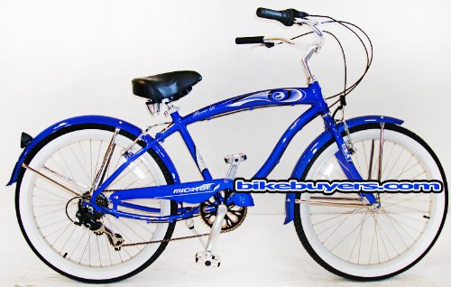"Micargi Rover 7-speed 24"" for men , Beach Cruiser Bike Schwi"