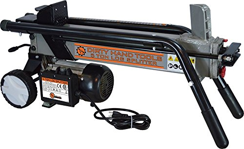 Dirty Hand Tools 100481 Log Splitter Horizontal – Electric, 5 Ton, 2HP, 120V, 25 Second Cycle