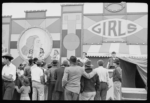 Photo: Carnival,Brownsville,Texas,TX,February 1942,Arthur Rothstein,United - Tx Brownsville Stores In