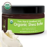 Shea Butter By Sky Organics: USDA Organic, Unrefined, Pure, Raw Ivory Shea Butter - Skin Nourishing, Moisturizing & Healing, For Dry Skin, Anti-Aging-For Skin Care, Hair Care & DIY Recipes 8oz