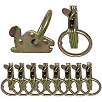 Swiky 10x Etrack Ring Tie Down Anchor E Track Hook Tie Down Rings, Etrack Fittings Tie-Down Rings, E-Track O Ring for Van, Cargo Heavy Duty Tie Downs Anchors