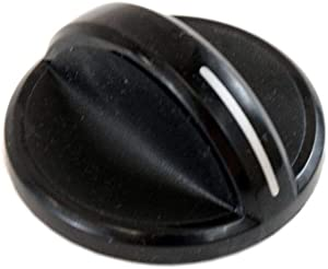 Whirlpool 8286044BL Cooktop Burner Knob Genuine Original Equipment Manufacturer (OEM) Part Black