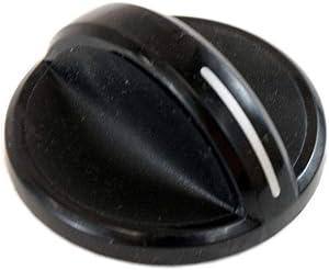 Whirlpool 8286044BL Cooktop Burner Knob Genuine Original Equipment Manufacturer (OEM) Part Black