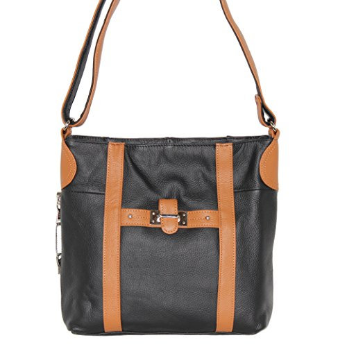 Concealed Carry Purse - Leather Strap Crossbody Messenger...