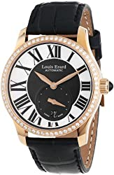 Louis Erard Women's 92602OS02.BACS6 Emotion Automatic Rose Gold Black Alligater Leather Diamond Watch